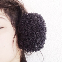 Black Earmuffs, Faux Fur Earmuffs, Girl's Fuzzy Earmuffs, Sheep Ear, Animal Earmuffs, Knit earmuffs, Plush Ear muffs, Lamb Earmuff, Win