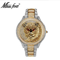 Quick sale of quartz watches with a round alloy spiral, a European diamond and diamond watch.