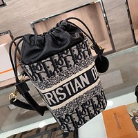 Dior 2021 new women's drawstring bucket bag handbag shoulder bag messenger bag