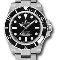 DCCK Rolex Oyster Perpetual 40MM Stainless Steel Submariner With a Rotable Black Cerachrom time lapse Bezel And a Black Index Dial.