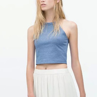 Sleeveless Crop Tank Top