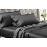 Satin Dreams 4Pc Solid Satin Sheet Set - Walmart.com