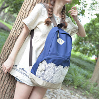 Fresh Simple Lace Canvas School Backpacks