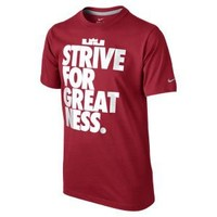 """Nike Store. LeBron """"Strive for Greatness"""" Boys' T-Shirt"""