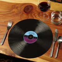 """RECORD PLACEMATS (Set of Two, Diameter 12"""")"""