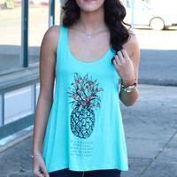 Be A Pineapple Tank {Mint}