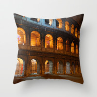 Colosseum - Rome, Italy Throw Pillow by Claude Gariepy