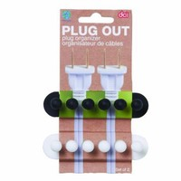 DCI Pug Out Plug Organizer, Assorted Colors, Set of 2