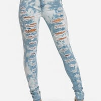 Cute Jeans-Trendy Ripped Jeans-Light blue high waisted jeans