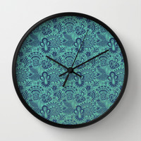 Blue Skin Wall Clock by Tony Vazquez