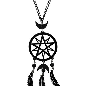 Cherryloco Moon Goddess Dream Catcher Necklace