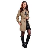 New Fashion Womens Warm Slim Fit Trench Double-breasted Coat Jacket Outwear YSH = 1956261188