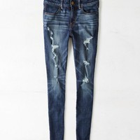 AEO Women's Hi-rise Jegging (Dark Destroy)