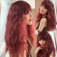 4 Colors Fluffy Bangs Wig