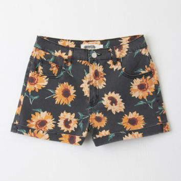 ModCloth Vintage Inspired Short Length High Waist Outlook is Sunny Shorts