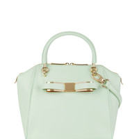 Small bow tote bag - Pale Green | Bags | Ted Baker UK