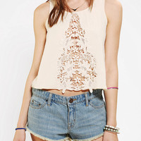 Dress The Population Sophia Lace Inset Tank Top