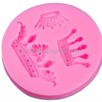 DIY 3D silicone baking mold shape silicone cake mold fondant crown molding tool CD-F528