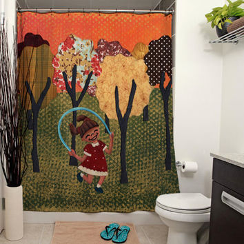 Jumping Rope Shower Curtain