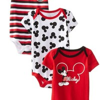 Disney Baby-Boys Newborn Mickey Mouse 3 Piece Creeper Set