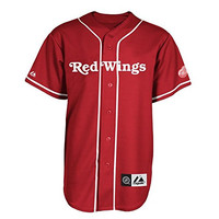 NHL Detroit Red Wings Short Sleeve Button Front Baseball Style Jersey Big and Tall Sizes
