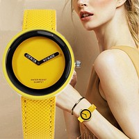 Women Watches Fashion Leather Watch Young Girl