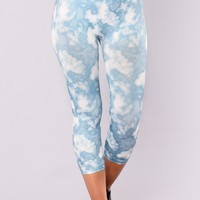 Smokey Print Active Leggings - Slate