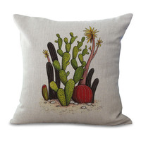 Pillow Cases with Plants