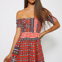 Thinking Clearly Dress - Red Print