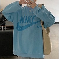 New Nike printed crew neck Terry sweater