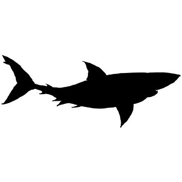 Black Shark Waterproof Temporary Tattoos Lasts 3 to 4 days Choose Small, Medium or Large Sizes