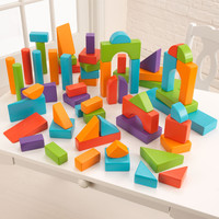 KidKraft 60 pc Wooden Block Set - Bright Colors - 63340