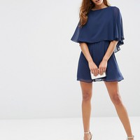 ASOS Crop Cape Mini Skater Dress