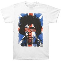 Jimi Hendrix Men's  Union Jack T-shirt White