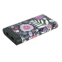 Instacharge 16000Mah Dual Usb Power Bank Portable Battery Charger Floral