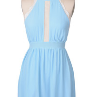 Cupshe You Are My Blue Backless Dress