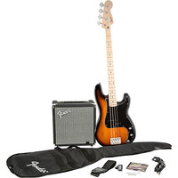Squier Affinity Series Precision Bass Pack with Fender Rumble 15W Bass Combo Amp | Guitar Center
