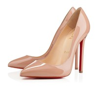 Christian Louboutin Cl Pigalle Nude Patent Leather 120mm Stiletto Heel Classic