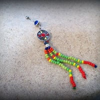 Boho Belly Button Rings,long beaded belly ring,Navel jewelry,bohemian belly ring-tribal body jewelry