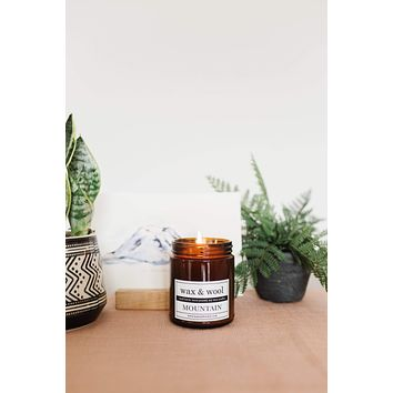 Mountain - 9 oz Pure Soy Wax Candle