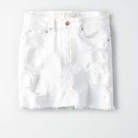 AE High-Waisted Festival Skirt, White