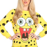 Yellow Cartoon Character Pull Over Sweater