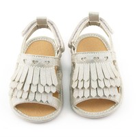 Infant Girls' Crib Shoes-White