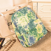 Romantic Canvas Korean Casual Travel Backpack = 4887425284