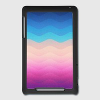 Pride Rainbow Wave (Colorful Geometric) Phone Case Nexus 7 Cover | Spreadshirt