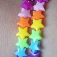 Rainbow Candy - Rainbow Brite Inspired Star Bracelet - Set of 2 from On Secret Wings