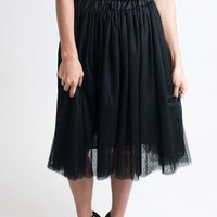Don't Tulle With My Heart Black Skirt