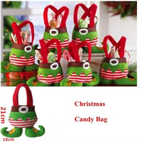 New 1Pcs Christmas Gift Bags Santa Spirit Candy Bags Wedding Holiday Christmas Decorations Lovely Gifts For Children DP672974 = 1946274692