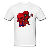 Deadpool Dead pool Taco 90s Cartoon  T Shirt Men Marvel Men's Funny Cute Graphic Tshirt Bleach Anime Cosplay Tee Shirts For Student Best Gift AT_70_6