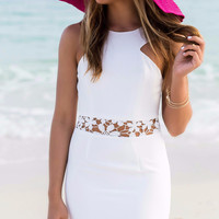 Kiss Me By The Shore White Lace Cocktail Dress